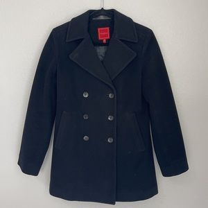 Cole Haan Black Wool & Cashmere Double Breasted Pea coat Women's XS